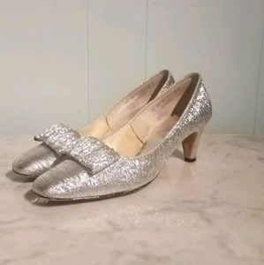 Vintage The American Girl Silver Dressy Shoes 7.5